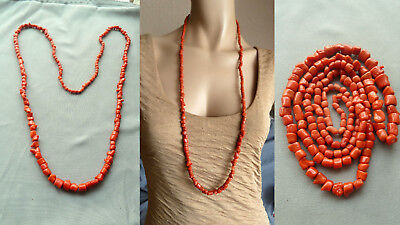 GUHJ 珊瑚项链 antique natural red coral necklace Korallenkette Koralle Collier Kette
