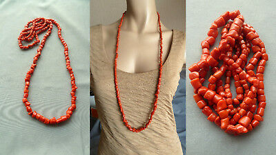 GUKL 珊瑚项链 antique natural red coral necklace Korallenkette Koralle Collier Kette