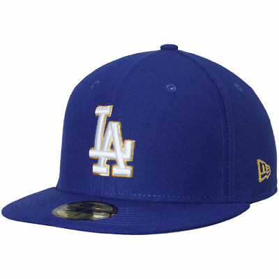 new arrival 2543c 77bef Los Angeles Dodgers New Era Gold City 59FIFTY Fitted Hat - Royal