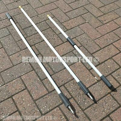 Professional 3 Piece Jet Wash Lance Extension M22 (9ft / 2.8m) 1/4 Quick Release