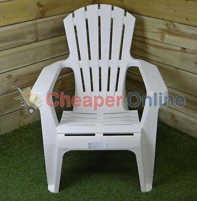 Stacking Armchair Dolomiti White 73x76x86 Plastic Chairs