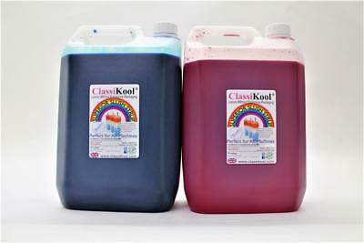 Classikool (2 x 5 Litre) Slush Puppy Syrup [1x Red Strawberry 1x Blue Raspberry]