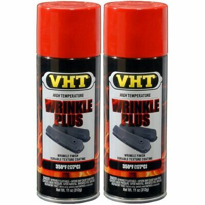 2 x 310ml VHT Crackle/Wrinkle Finish High Temperature Aerosol Spray Paint Red
