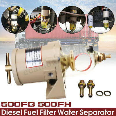 500FG 500FH Diesel Marine Trucks Fuel Filter Oil Water Separator With Bolt Ring