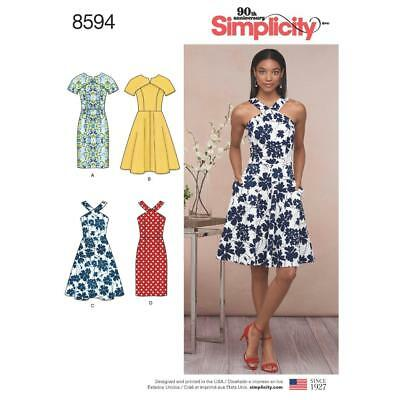 Simplicity Sewing Pattern Misses / Miss Dresses Bodice & Skirt Var 6 - 22 8594