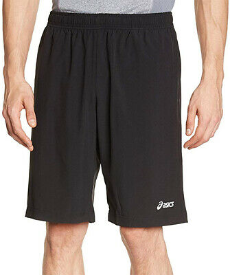 Asics Mens Woven Running Shorts - Black