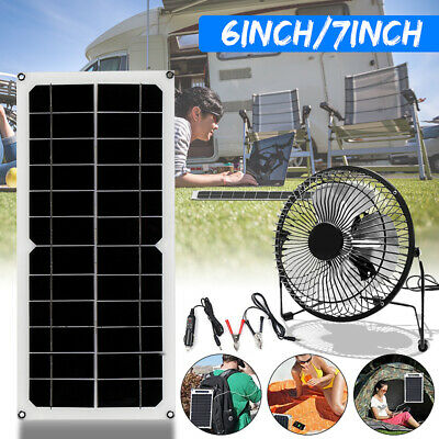 10W 12V Solar Panel 6/7'' Fan Flexible Panel Greenhouse Chick House Ventilator