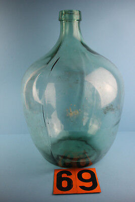 Alter  Glasballon Transparent Ca 25 Liter Nr 69