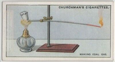 Simple Coal Gas Physics Science Experiment Heat 1920s Trade Ad Card