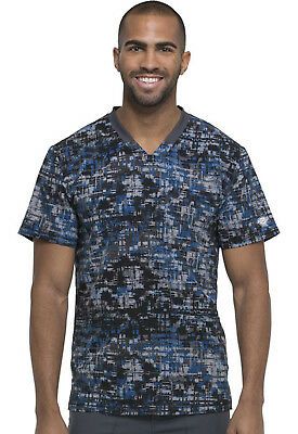 Texture Tango Royal Dickies Scrubs Dynamix Mens V Neck Top DK607 TTRY