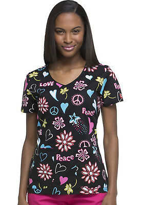 Cook Caticorn Dickies Scrubs EDS V Neck Top DK700 COOT