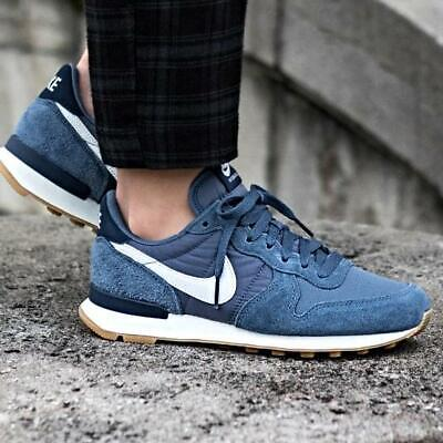wholesale dealer 4065a 4148c Nike Internationalist Sneakers Diffused Blue Size 6 7 8 9 Womens Shoes New
