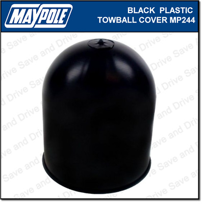 Maypole Black Towball Cover Cap Hitch Towbar Towing Trailer Caravan MP244