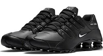 New NIKE Shox NZ Premium Running Shoes Mens black white black all sizes 123630d06