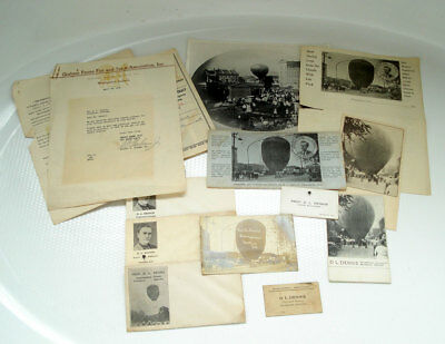 Franklin Indiana 14 Pc Historic Lot ~Dl Dennis Expert Balloonist ~ Rppc Photo