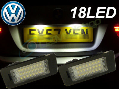 18 Smd LED Rear Number Licence Plate Units Replacement For VW Phaeton 2002+