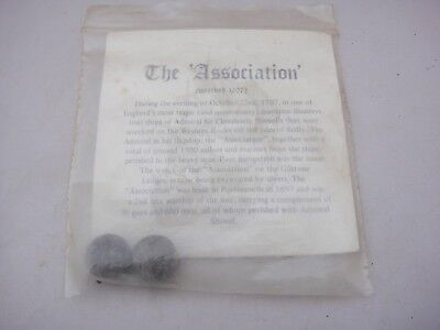 """Two Vintage Musket Balls From the Shipwreck of the """"Association"""" 1707"""