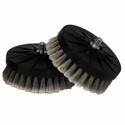 Cyclo Gray Soft Leather Brush, Pair for DA or Cyclo Polisher Scrubber Machine
