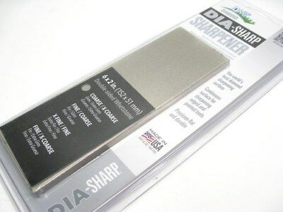 """DMT 6"""" Coarse Extra Coarse DIA-SHARP Knife Sharpener 2 SIDED Bench Stone! D6CX"""