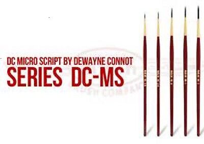 NEW! Andrew Mack DC Micro Script By Dewayne Connot Pinstriping Brush Set of Five