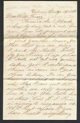 1864 Civil War Soldiers Letter With Incredible Baseball Content