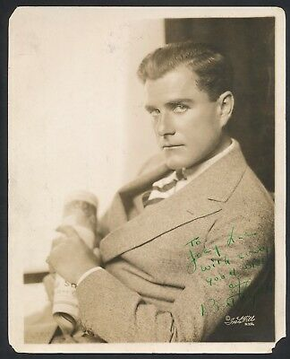 1920's BERT LYTELL, SIGNED Hollywood Studio Photo (Died 1954)