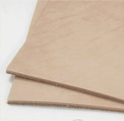 "Natural Veg Tan Cowhide Tooling Leather 12""x12"" Pre-Cut Project 5-6oz Grade 2"