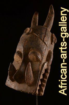 56459 Antique Helmet Mask The Mambila Cameroon/Cameroon Africa