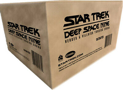 Star Trek DS9 Heroes & Villains Factory Sealed Case of 12 Trading Card Boxes