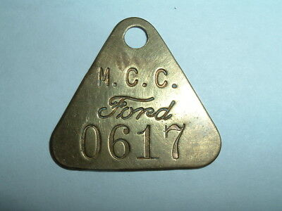 Brass Ford Tool Check Tag Michigan Casting Center Flat Rock Auto Factory MCC0617