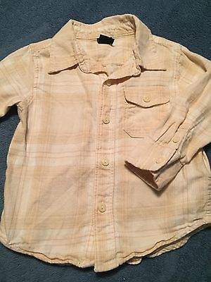 Baby Gap Boys Long Sleeve Button Up Shirt Size 18-24 Months