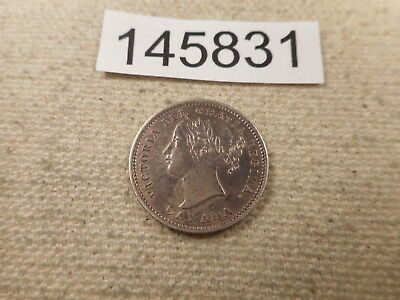 1858 Province of Canada 10 Cents Very Nice Collector Coin - # 145831 Cleaned