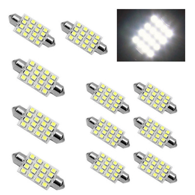 3x  white 42mm 16SMD Car LED Festoon Dome Map Interior Cargo Light Bulbs 578 New