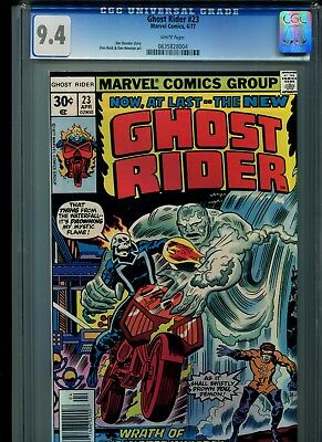 Ghost Rider #23 CGC 9.4 (1977) Champions Jack Kirby Cover White Pages