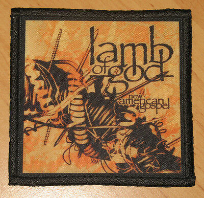 "LAMB OF GOD ""NEW AMERICAN GOSPEL"" silk screen PATCH"