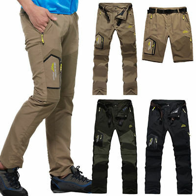 Outdoor Mens Breathable Pant Removable Hiking SPORTS RUNNING Quick Drying Pants