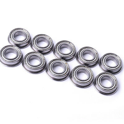 10pc 5x11x12mm F685 zz Metal Shielded Flanged Model Ball Flange Bearing