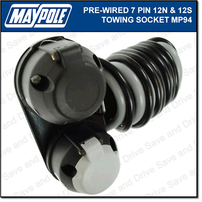 Maypole Pre-Wired 12N & 12S Towing Socket & Cable Trailer Caravan Electrics MP94