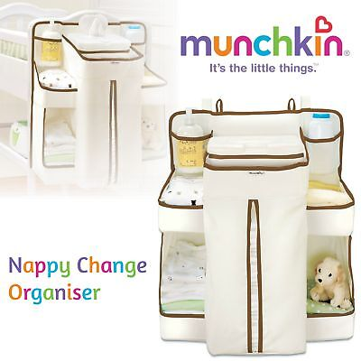 Munchkin Nappy Baby Change Organiser│Diaper Changer│Wipes Storage Holder│Stacker