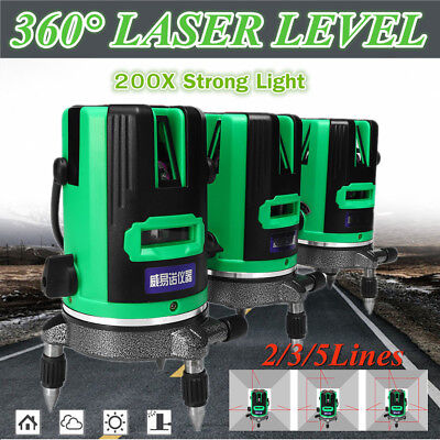 200 Times Green Laser Level 2/3/5 Cross Lines Self-Leveling 360° Rotary Measure
