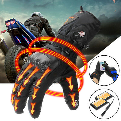 Motorcycle Electric Heated Gloves Battery Inner Bike Warmer Touch screen Hands