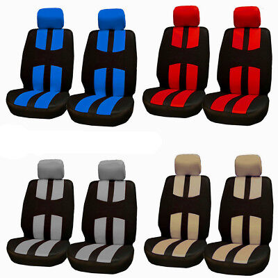 Universal 2 Heads Car Seat Covers Protector Cushion Polyester For Truck SUV Auto