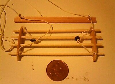 Dolls house 1/12 scale ceiling clothes airer with ceiling fitting bar