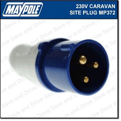 Maypole Caravan 230V 16A Site Hook Up Mains Plug IP44 Rated Electrics MP372