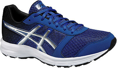 Asics Patriot 8 Mens Neutral Cushioned Running Trainers Shoes Blue Value
