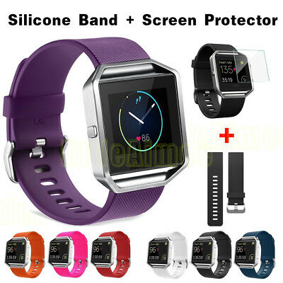Replacement Silicone Rubber Band Strap Wristband Bracelet For Fitbit Blaze
