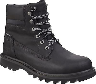CAT Lifestyle DEPLETE Mens Nubuck Leather Waterproof Ankle Work Boots Black