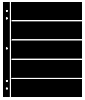 25 Supersafe (Showgard) 5 Pocket Black Stock Sheets 5 Packages Of 5 Double Sided