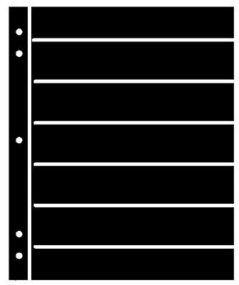 25 Supersafe (Showgard) 7 Pocket Black Stock Sheets 5 Packages Of 5 Double Sided