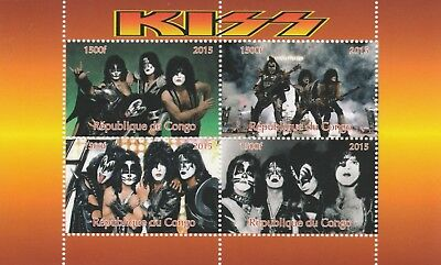 Topical Stamps Congo 7461-2015 Kiss #1 Perf Sheetlet Of 4 Values Unmounted Mint